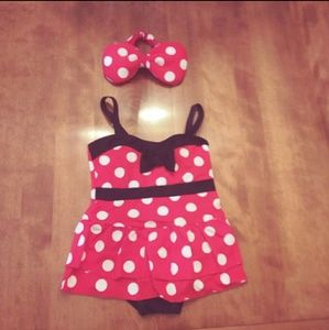 Other - Minnie Mouse one piece Bathingsuit